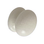 38mm white crackle porcelain knob